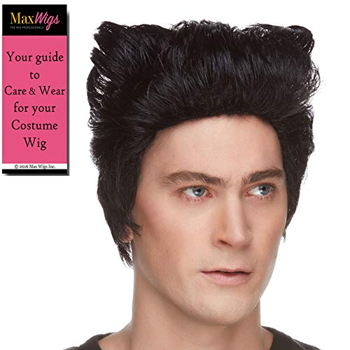 Wolverine Color Black - Sepia Wigs Logan Xmen Cosplay Fancy Dress Wolferine Synthetic Wolfrine Jackman Bundle Costume Wig Booklet]()