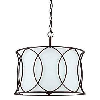 Image of Canarm ICH320A03ORB20 Monica 3-Light Chandelier, 20.5' x 20.5' x 17.5', Oil Rubbed Bronze Home Improvements