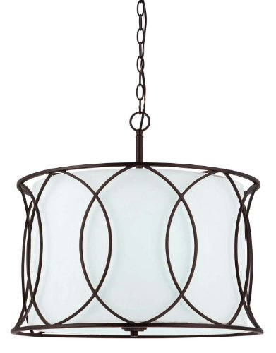 Canarm ICH320A03ORB20 Monica 3-Light Chandelier, 20.5