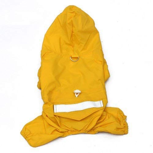 Puppy Raincoat - Cloth Dog Waterproof Hooded Apparel Raincoat Jacket 4 Color Pet Costume - Clothing Familiari Fabric Domestic Firedog Detent Bounder Pawl Tail Material Chase Cad - 1PCs -