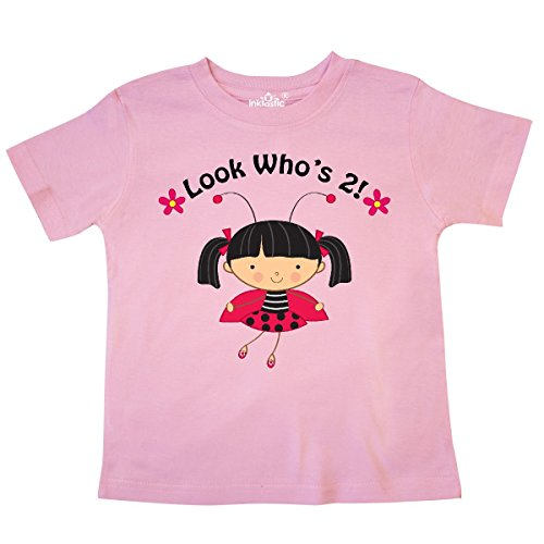 - inktastic - 2nd Birthday with Ladybug 2 Year Old Toddler T-Shirt 4T Pink c4bd