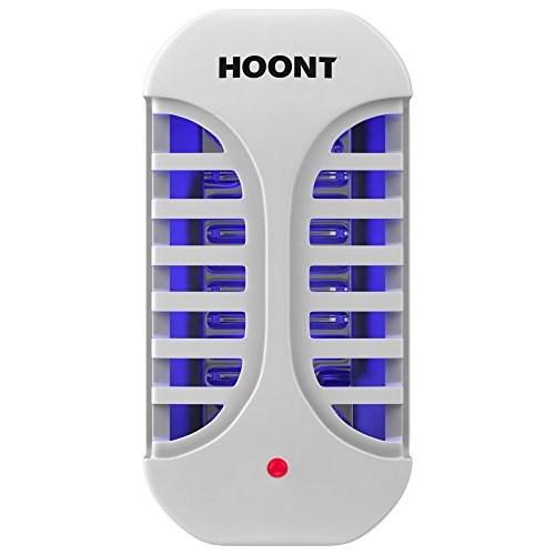Hoont Plug in Electric Indoor Bug Zapper Fly Zapper Killer Catcher Trap – Plugs into Standard Wall Outlet - Protects 500 Sq Ft / Fly Killer, Insect Killer, Mosquito Killer – For Home, Office or Travel