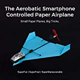 PowerUp Dart Aerobatic Smartphone Controlled Paper Airplanes Conversion Kit | Tiny Remote Controlled Motor for Paper Planes | RC Engine Works with Different Airplane Designs | Android & iOS Compatible