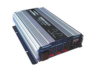 VertaMax 3000 Watt (6000W surge) 12V Pure Sine Wave Power Inverter DC to AC Car, Solar, Off-Grid, RV
