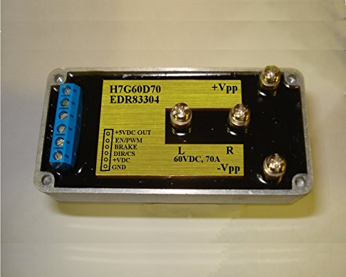 H-Bridge Driver rated at 60VDC, 70A, I/O Isolated for driving DC motors, thermoelectrical heater/cooling elements, piezo transducers, etc.