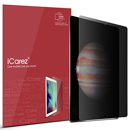 iCarez [Secret Series] 4 Way Privacy 360 Degree Screen Protector for Apple 12.9 inch iPad Pro (2015 2017 Model) with Lifetime Replacement Warranty - Retail Packaging