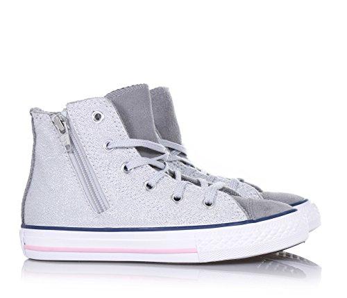 Converse Chuck Taylor Hi Canvas mixte adulte, toile, sneaker high Grigio