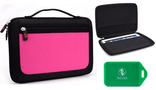 HP Touch Pad 9.7, Hipstreet Flare 2 HS-9DTB7-8GB , Hipstreet Flare 3 HS-9DTB37-8GB Pink Tablet Carrying Case