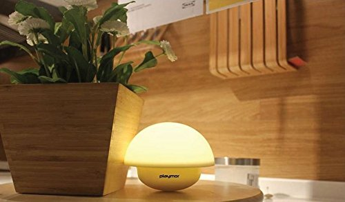 Playmor 7 Color LED Night Lamp, Fashionable Bed Side Accessory, Table Top  Lamp With