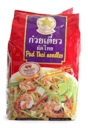 Pad Thai Noodles Includes Seasoning Sachet 300g. (Pack of 2)