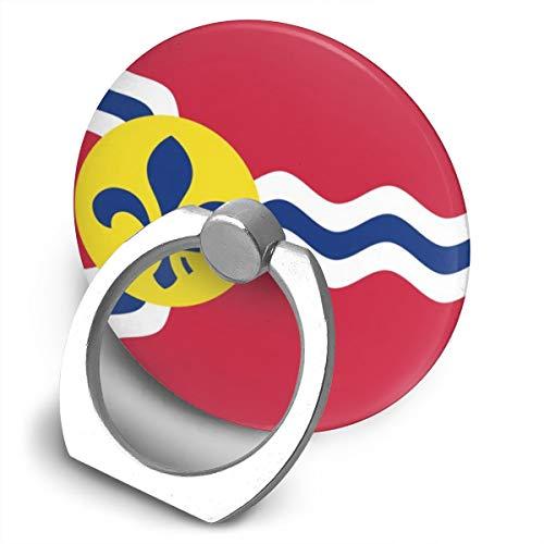 Missouri Swivel - Flag of St. Louis, Missouri 360 Degree Swivel Creative Ring Buckle Bracket Multi-Functional Ring Bracket