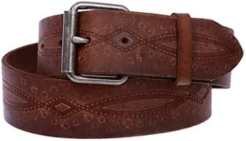 a418ac116 MONIQUE Women Snap On Embossed Vintage Cowhide Thick Leather 1.75'' Wide  Belt