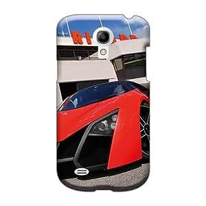 Samsung Galaxy S4 Mini Xhz29506wxQo Customized Realistic Red Marussia Pattern Shock-Absorbing Hard Phone Cover -JamieBratt