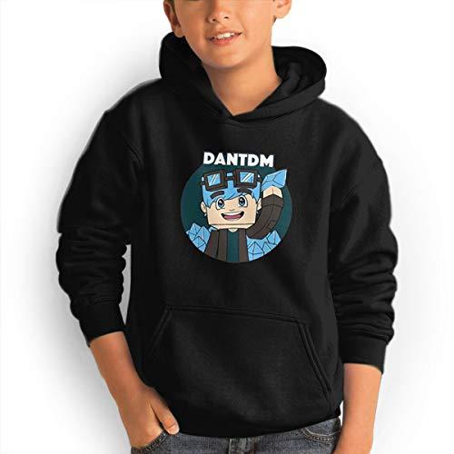 (Don Washington DanTDM Youth Hoodies Fashion Sweatshirts Pullover Black)