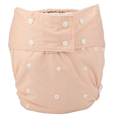 Sigzagor Teen Adult Cloth Diaper Nappy Reusable Washable for Disability Incontinence Women (Beige)