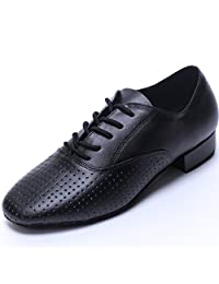 TDA Mens Poited Toe Leather Modern Salsa Tango Ballroom Latin Wedding Party Dance Shoes
