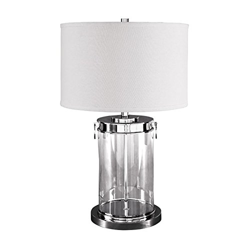 Metro Contemporary Sofa (Signature Design by Ashley L430244 Tailynn Table Lamp Contemporary Glass Cylindrical Drum Shade, Clear/Silver Finish)