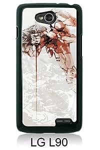 Beautiful Classic Metal Gear Black Case For LG L90