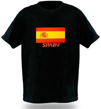 Camiseta LED Sonido Modelo Bandera España Talla M: Amazon.es ...