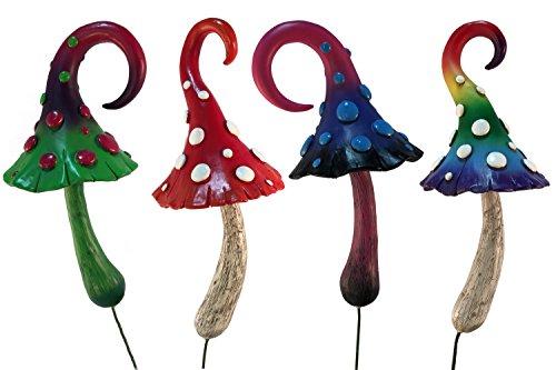 Magical Miniature Mushroom Collection - 4 fairy garden beautiful miniature mushrooms included. A Gnome- Fairy Garden Accessory ()