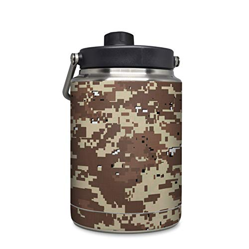 Digital Desert Camo Protector Skin Sticker Compatible with Yeti Rambler 1/2 Gallon Jug - Ultra Thin Protective Vinyl Decal Wrap Cover ()