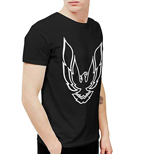 (T-shirt Pontiac Firebird Logo Men's Round Neck Short Sleeve Tees Tops Black 6XL)
