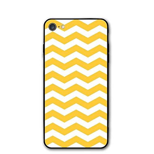 Haixia IPhone 7/8 Cover Case 4.7 Inch Yellow Chevron Modern Summer Season Pattern Tile Design Wavy Horizontal Motif Decorative Yellow And White (Wavy Motif)