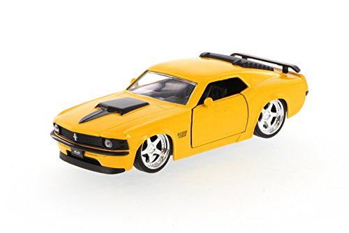 1970 Mustang Boss 429, Yellow - Jada Toys 96941 - 1/32 scale Diecast Model Toy Car (Brand New, but NO BOX)