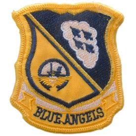 USN, Blue Angels - Embroidered Patches, Premium Quality Iron On Patch - 3.375