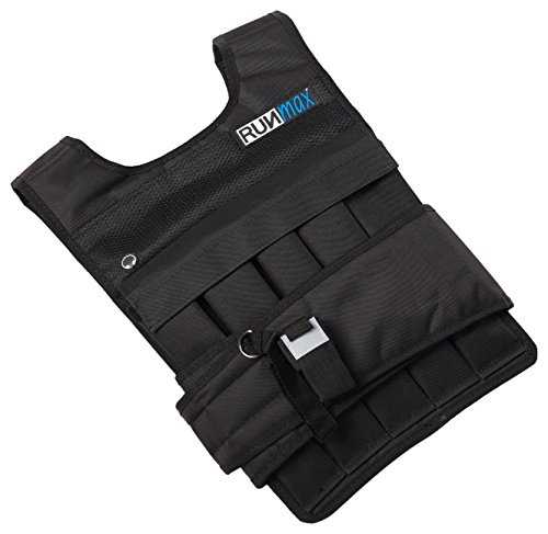 RUNFast RM_40 Pro Weighted Vest 12lbs.-60 lbs. (Without Shoulder Pads, 40 lb.) (Push Ups And Squats For Weight Loss)