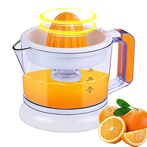 Large Capacity Electric Citrus Juicer | Juicer Squeezer Auto Reverse Pulp Fresh Lemon Orange Juice for Healthy Juice (750ML,25W)