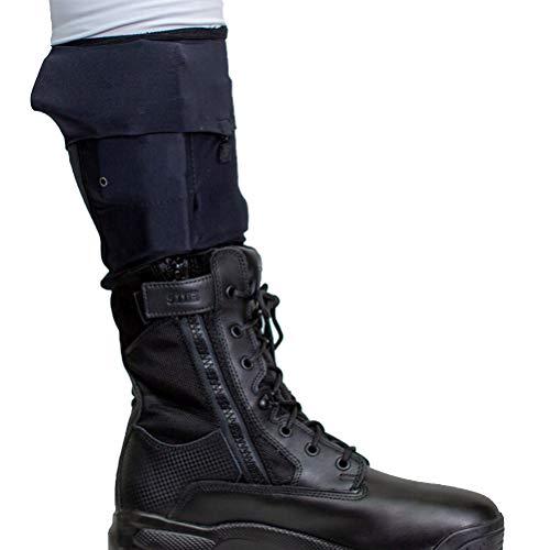 Cheata Tactical Gun Sox Black Leg Pistol Holstering System, Cowboy Mid Calf, Medium