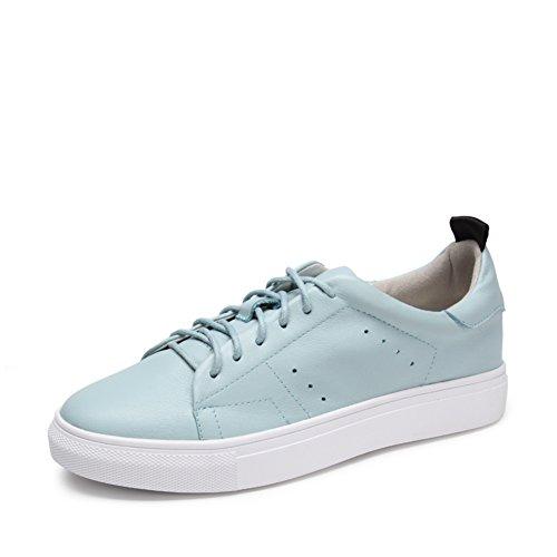 Zapatos ocasionales de las mujeres/Zapatillas de suela gruesa/Fondo plano zapatos/Versión coreana de los zapatos de la Junta de estudiantes B