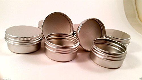 Empty Screw Top Round Tin Containers for Lip Balm, Crafts, Cosmetic, Candles, Storage Kit 1 2 Oz 75