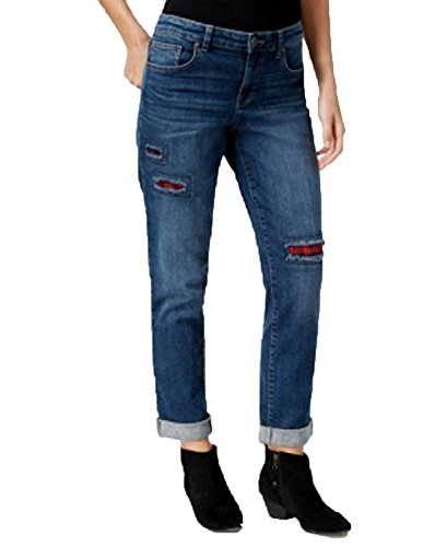 Style & Co. Petite Patchwork Path Wash Boyfriend Jeans (Path, 10 Petite)