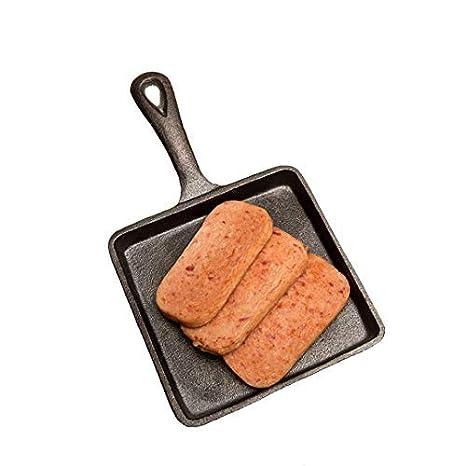 Mini Sartenes de hierro fundido con mango Steak Pan sarten grill antiadherente 14 cm: Amazon.es: Hogar
