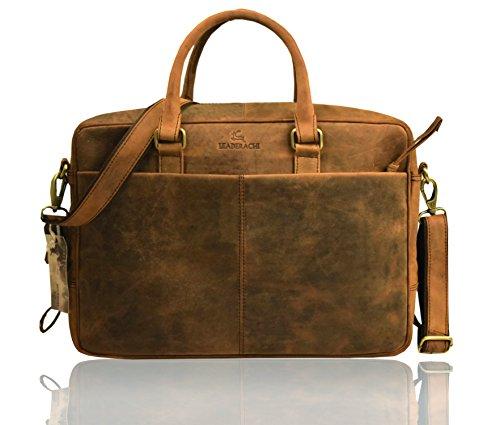 74a7dc364e22 Leaderachi Men s Wax Hunter Leather Laptop Briefcase Bag - Hobart Rs. 3179  ( 68%