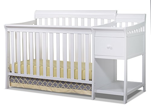 Sorelle Florence Crib and Changer, White
