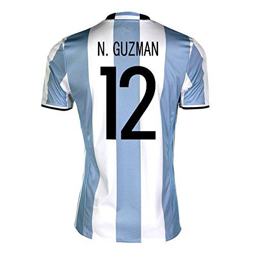 極小小さい失われたadidas N. Guzman #12 Argentina Home Soccer Jersey Copa America Centenario 2016 YOUTH/サッカーユニフォーム アルゼンチン ホーム用 N. グスマン ジュニア向け