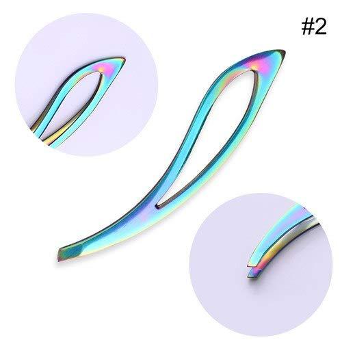 Eye Care Makeup Skin Dissolver - rainbow eyebrow flat tip eyelash nail art sticker