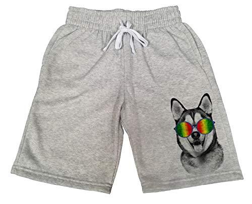 Husky B1339 Gray Fleece Jogger Sweatpants Gym Shorts 2X-Large ()