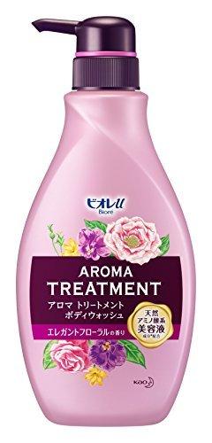 (Biore u aroma treatment body wash elegant floral scent pump 480ml Japan)