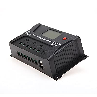 HQST PWM Smart Solar Charge Controller with LCD Display