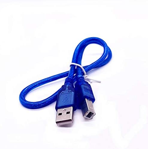 USB High Speed 2.0 A to B Male Cable for Canon Brother Samsung Hp Epson Printer Cord 1.5FT Blue