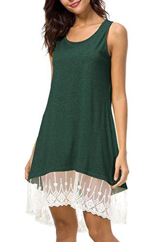 f50d7d1f6f0 ... Damen Yacun Mini Cocktail Sommer Shirt Am Green Strand Ärmellose Im  Kleid ...