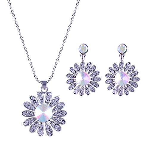Toponly Women Love Heart Pendant Necklace Earrings Set, Sterling Silver Jewelry Set Gift Her by Toponly (Image #6)
