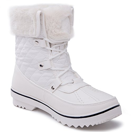 Global Win Globalwin Womens 1632 Black Grey Snow Boots 1706white