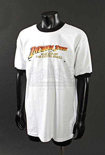 Original Movie Prop - Indiana Jones & The Kingdom Of The Crystal Skull - Promo T-Shirt - Authentic (Indiana Jones Movie Memorabilia)