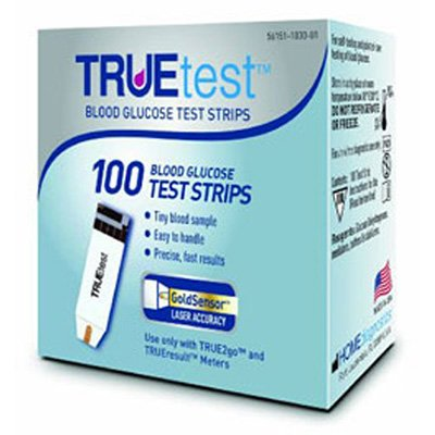 TRUEtest Blood Glucose Test Strips, Retail, 100ct