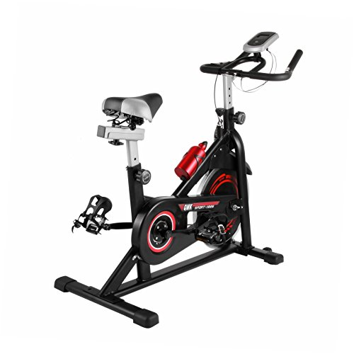 Popsport Indoor Exercise Bike Stationary Bike 330LBS/440LBS Indoor Cycle Bike with LCD Display and Water Bottle Phone Holder for Home Fitness Exercising